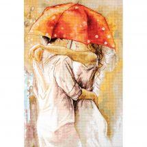 Kit point de croix - Luca-S - Sous le parapluie