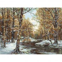 Kit point de croix - Luca-S - Premières neiges
