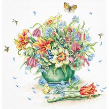 Kit point de croix - Luca-S - Bouquet d'Avril