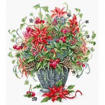 Kit point de croix - Luca-S - Bouquet de Décembre