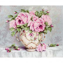 Kit point de croix - Luca-S - Roses en bouquet