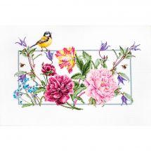 Kit point de croix - Luca-S - Fleurs de printemps