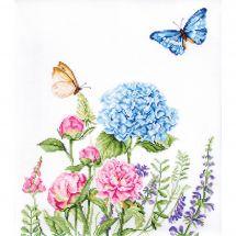 Kit point de croix - Luca-S - Fleurs d'été et papillons