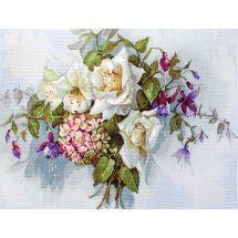Kit point de croix - Luca-S - Composition florale