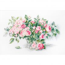 Kit point de croix - Luca-S - Bouquet de fleurs roses