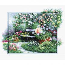 Kit point de croix - Luca-S - Jardin fleuri