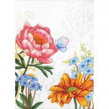 Kit point de croix - Luca-S - Fleurs et papillon
