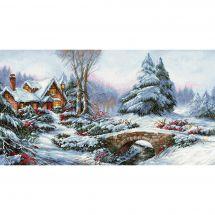 Kit point de croix - Luca-S - Paysage de neige