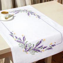 Kit de chemin de table à broder - Luca-S - Lavande