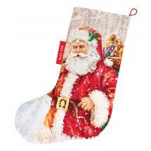Kit de chaussette de Noël à broder - Luca-S - Père Noël