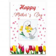 Kit de carte à broder  - Luca-S - Fête des mères