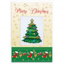 Kit de carte à broder  - Luca-S - Joyeux Noël