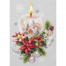 Kit point de croix - Magic Needle - Bougie de Noël