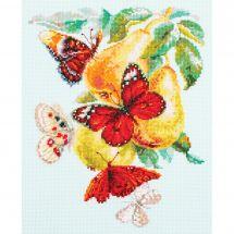 Kit point de croix - Magic Needle - Papillons et poires
