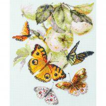 Kit point de croix - Magic Needle - Papillons et pommes