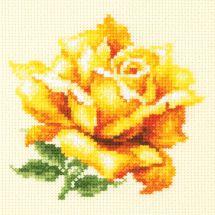 Kit point de croix - Magic Needle - Rose jaune