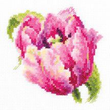 Kit point de croix - Magic Needle - Tulipe rose