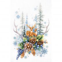 Kit point de croix - Magic Needle - Esprit de la forêt d'hiver