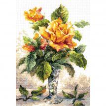 Kit point de croix - Magic Needle - Roses jaunes