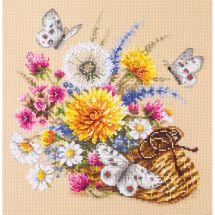 Kit point de croix - Magic Needle - Fleurs de prairie