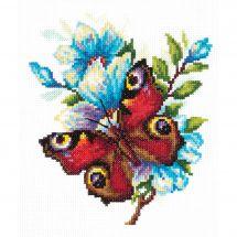 Kit point de croix - Magic Needle - Papillon paon