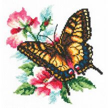 Kit point de croix - Magic Needle - Papillon machaon