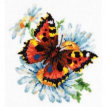 Kit point de croix - Magic Needle - Papillon et marguerites
