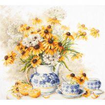 Kit point de croix - Magic Needle - Fleurs et thé