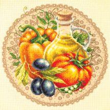 Kit point de croix - Magic Needle - Salade méditerranéenne
