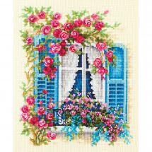 Kit point de croix - Magic Needle - Fenêtre fleurie