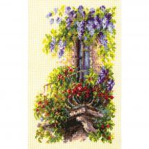 Kit point de croix - Magic Needle - Balcon fleuri