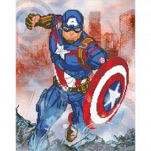 Kit de broderie Diamant - Camelot Dotz - Captain America