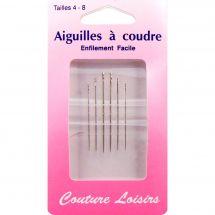 Aiguilles à coudre - Couture loisirs - Aiguilles à coudre main - tailles 4-8