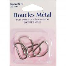 Boucles et clips - Couture loisirs - Anneaux demi-ronds - 20 mm métal