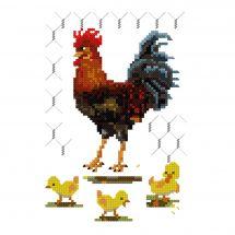 Kit point de croix - Luc Créations - Le coq