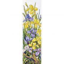 Kit point de croix - Merejka - Grenouille dans les fleurs