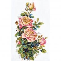 Kit point de croix - Merejka - Roses jaunes