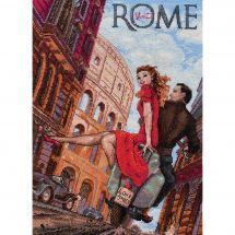 Kit point de croix - Merejka - Visitez Rome