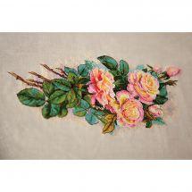 Kit point de croix - Merejka - Roses vintages