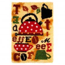 Kit de tapis point noué - Orchidéa - Thé et café