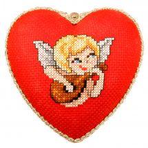 Kit d'ornement à broder - Orchidéa - L'ange à la mandoline