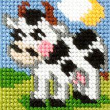 Kit de canevas pour enfant - Orchidéa - Vache