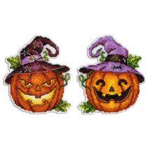 Kit d'ornement à broder - MP Studia - Lanterne d'Halloween