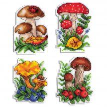Kit de magnet à broder - MP Studia - Magnets champignons