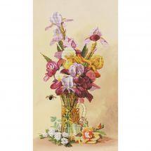 Kit point de croix - Nova Sloboda - Bouquet d'iris