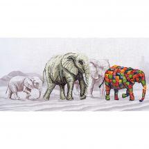 Kit point de croix - Nova Sloboda - La marche des éléphants