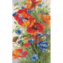 Kit point de croix - Nova Sloboda - Fleurs d'été