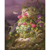 Kit point de croix - Nova Sloboda - Rocher en fleurs