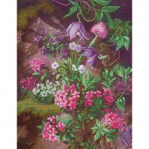 Kit point de croix - Nova Sloboda - Forêt violette