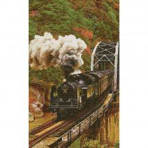 Kit point de croix - Nova Sloboda - Train dans les montagnes
